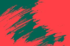 Green red paint brush strokes background. Green red paint background texture with grunge brush strokes stock photography