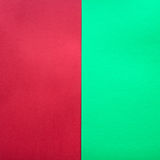 Green and red paper background. Complementary colors pantone Stock Photo