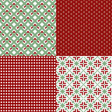 Green and red patterns Stock Images