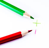 green and red pencil Royalty Free Stock Image