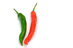 Green and red pepper Royalty Free Stock Photo