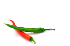 Green and red pepper Stock Image