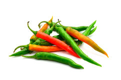 Green and red pepper Stock Images