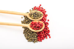 Green and Red Pepper Royalty Free Stock Photography