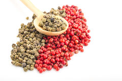 Green and Red Pepper Stock Photography