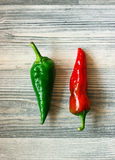 Green and red peppers Royalty Free Stock Photos