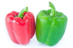 Green and Red Pimento Stock Image