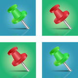 Green and Red Pin Stock Images