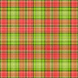 Green Red Plaid. A digitally created plaid fabric - SEAMLESS - with a woven texture stock illustration