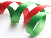 Green and Red Ribbon Royalty Free Stock Photo