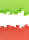 Green and red ripped paper background Royalty Free Stock Image