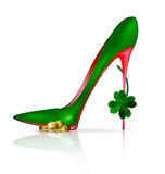 Green red shoe Royalty Free Stock Images