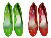 Green red  shoes Stock Photos
