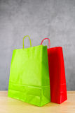Green And Red Shopping Bags Royalty Free Stock Images