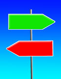 Green and red sign Royalty Free Stock Photo