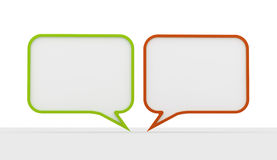 Green and red speech bubbles Royalty Free Stock Photos
