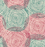 Green and red spiral pattern Royalty Free Stock Photo