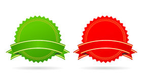 Green and red star Stock Image