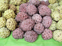 green and red Sugar apple Stock Photo