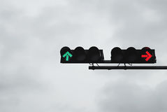 Green and red traffic light Stock Photo