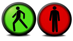 Green and red traffic lights Stock Image