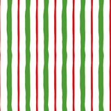 Green red vertical lines Merry Christmas color decorative background Vector seamless pattern Royalty Free Stock Photo