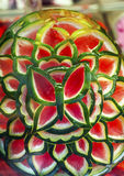 Green Red Watermelon Flower Granada Andalusia Spain Stock Image