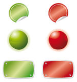 Green red web elements Royalty Free Stock Photo