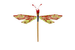 Green red white paint made dragonfly. Green red white paint made conceptual dragonfly royalty free illustration