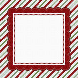 Green, Red and White Striped Candy Cane Striped Background Stock Photo