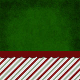 Green, Red and White Striped Candy Cane Striped Grunge Backgroun. D with top copy space for your message Stock Image