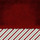 Green, Red and White Striped Candy Cane Striped Grunge Backgroun. D with top copy space for your message Royalty Free Stock Photo