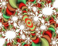 Green red white vivid fractal abstract background, flowery texture. Red green phosphorescent vivid fractal background, flowery creative texture. Colors are royalty free stock photos
