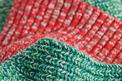Green and red wool Stock Photography