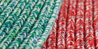 Green and red wool Royalty Free Stock Photography