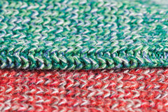 Green and red wool Stock Photo