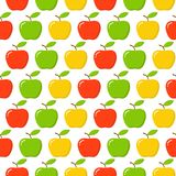 Green, Red, Yellow Apple Seamless Endless Pattern. Red Apple Fruit. vector illustration