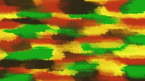 Green red yellow and brown painting abstract Stock Photo