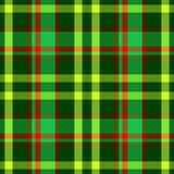 Green red yellow checkered tartan plaid seamless pattern texture Stock Image