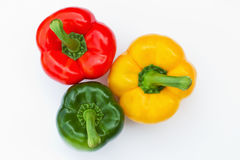 Green red and yellow pepper Stock Image