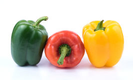 Green red and yellow pepper Royalty Free Stock Image