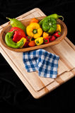 Green, Red and Yellow Peppers Royalty Free Stock Photo