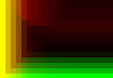 Green red yellow quadratic pattern in color geometric.  Royalty Free Stock Image