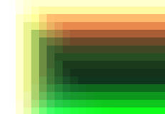 Green red yellow quadratic pattern in color geometric Stock Photo