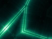 Green reflecting metallic surface. Technological texture and background Royalty Free Stock Photo