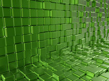 Green reflective blocks. 3D render illustration of multiple green reflective blocks vector illustration