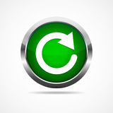 Green refresh button. Vector illustration Royalty Free Stock Photography