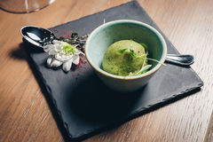 Green refreshing lime pistachio ice cream Royalty Free Stock Images