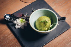 Green refreshing lime pistachio ice cream Stock Photography