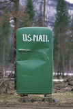 Green refrigerator. Mailbox in Northern Montana Royalty Free Stock Photos